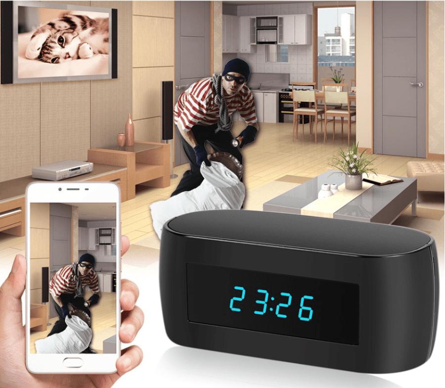 こっそり室内の様子を撮影できる時計 Wireless WIFI Hidden Spy Alarm Clock IP Camera