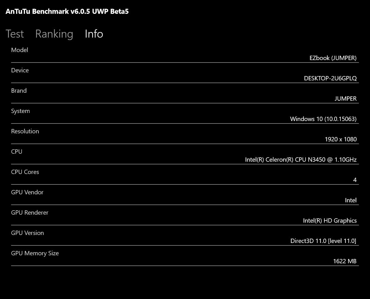 Jumper EZbook 3S 実機レビュー ベンチマークテスト結果