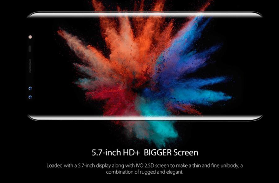Blackview S8 ベゼルなどの外観や2.5Dガラスの詳細参考画像