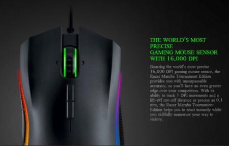 GeekBuyingで16,000 DPI 光学センサー搭載ゲーミングマウスが$67.99からセール中!