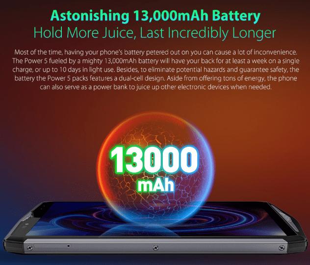 【セールで$259.99】Ulefone Power 5 スペックレビュー・CPU性能・割引クーポンまとめ