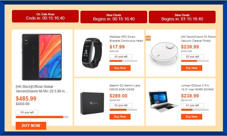 GeekBuyingの6周年セール