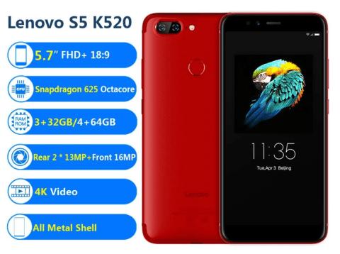 Lenovo S5 K520 コスパの良いミドルレンジスマホがクーポンで$ 132.99