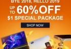 GeekBuyingのCES 2019 SaleでHUAWEI Mate 20 Proが$1299.99、VOYO i8が$174.99など最大60%割引セール開催中!