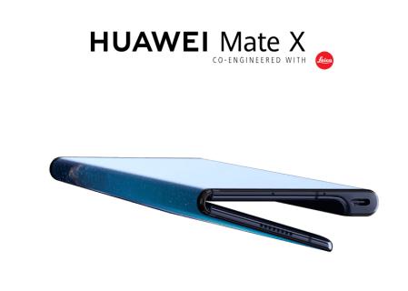 HUAWEI Mate X OLEDディスプレイで液晶が半分に折りたためるスマホが登場!