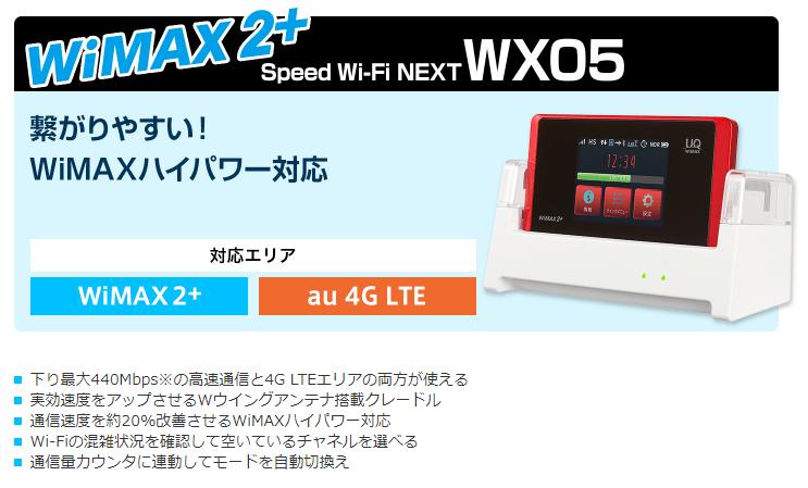 Speed Wi-Fi NEXT WX05