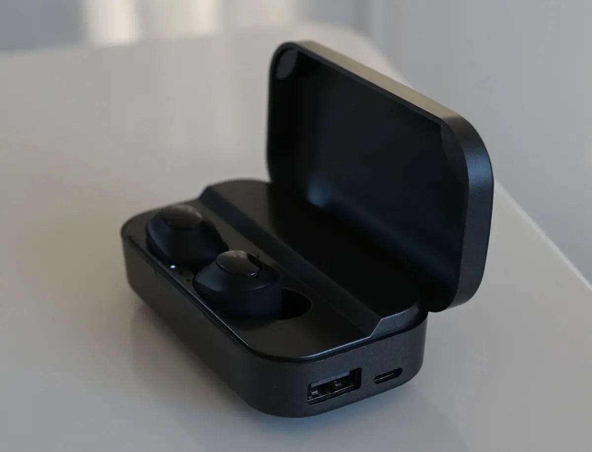 Bluetooth5.0 完全ワイヤレス・自動ペアリング機能付き左右独立防水イヤホン