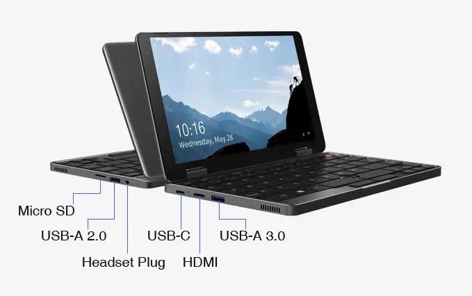 CHUWI MiniBookはI/Oポートにフル機能のType-Cを搭載