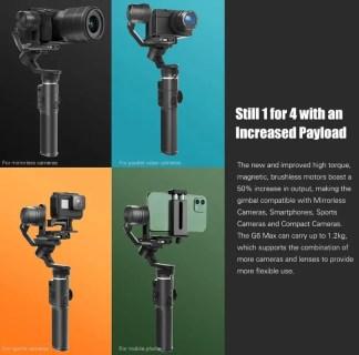 【セールで$219.99】FeiyuTech G6 Max スマホとカメラで使えるジンバルスタビライザー