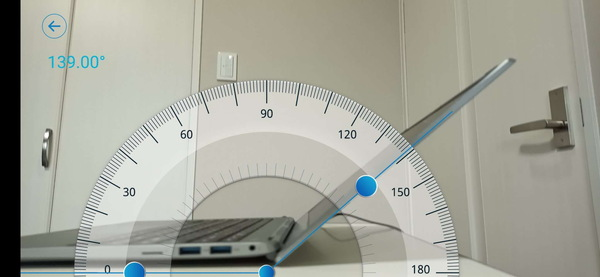 ALLDOCUBE i7Book レビュー 開閉角度は135°