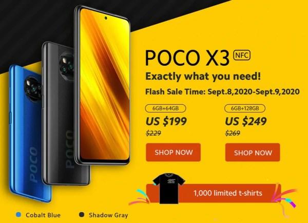 9月10日6時まで!POCO X3 NFC の最大10ドル割引クーポンがさっそく登場
