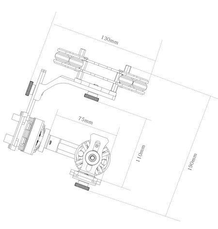 3-Axis Gimbal Kit Alexmos 32bit BGC for Sony NEX ILDC