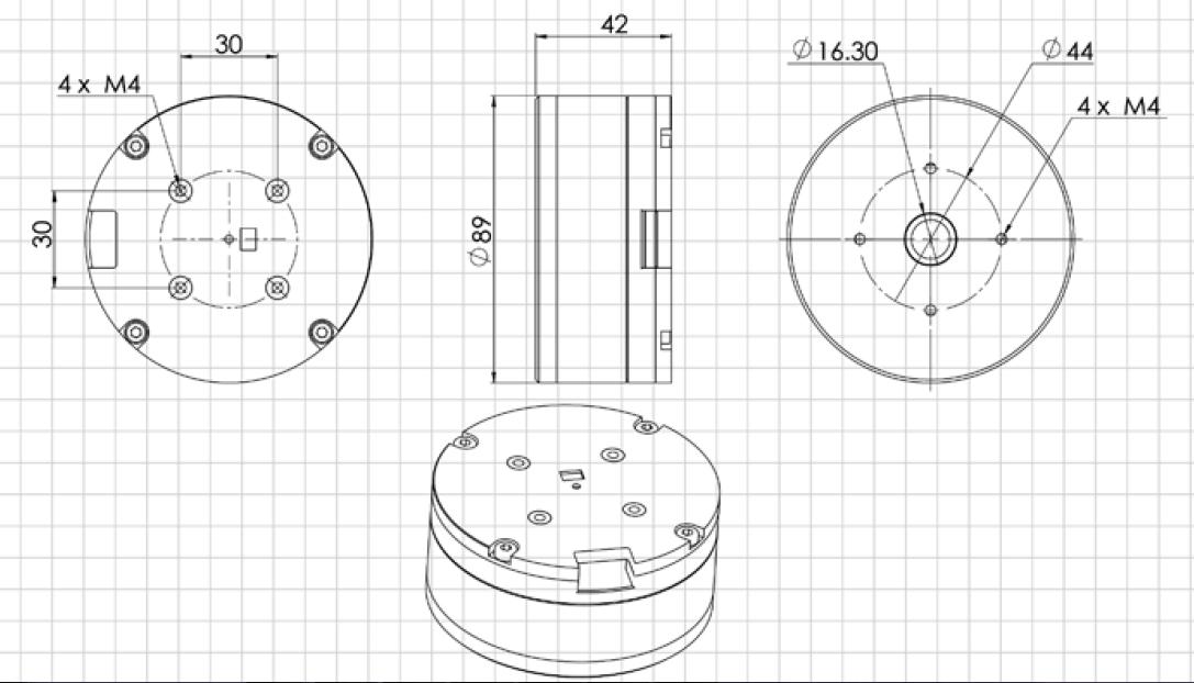 BGC Encoder Motor DM90-130T SlipRing 10kg Payload BGC