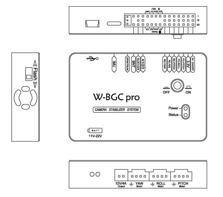 BaseCam AlexMos SimpleBGC 3rd axis High Current 32bit