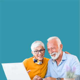 Shop online for your Home Medical Equipment from our website. Photo of two older adults looking at a laptop