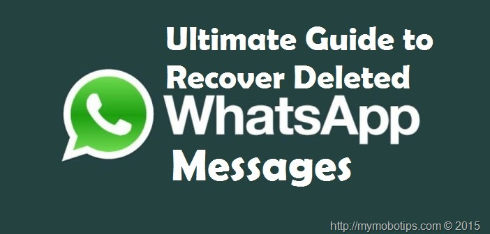 Recover deleted Whatsapp