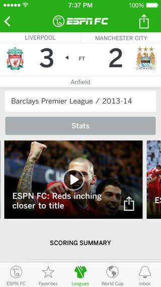 ESPN FC Soccer & World Cup App 1