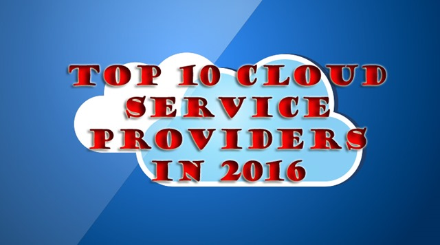 Cloud Service Providers in 2016