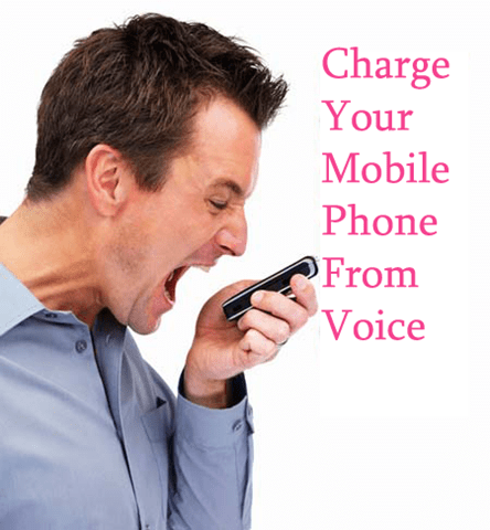 Charge your mobile phone from voice!