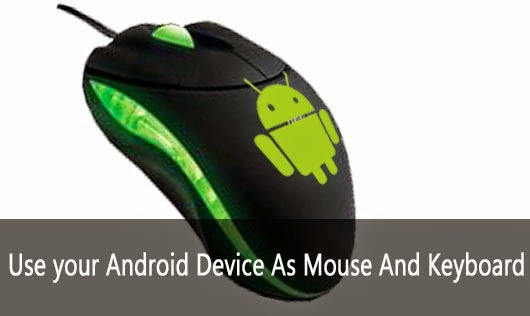smartphone as mouse and keyboard