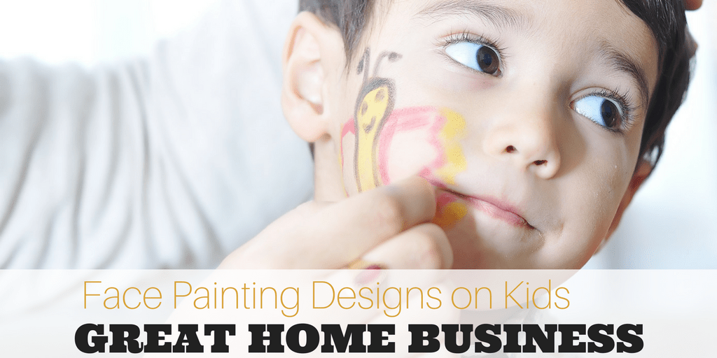 Small Face Painting Designs On Kids--Great Home Business!