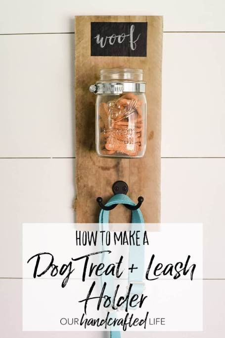 DIY Project Ideas to Make and Sell-Dog Treat and Leash Mason Jar Holder