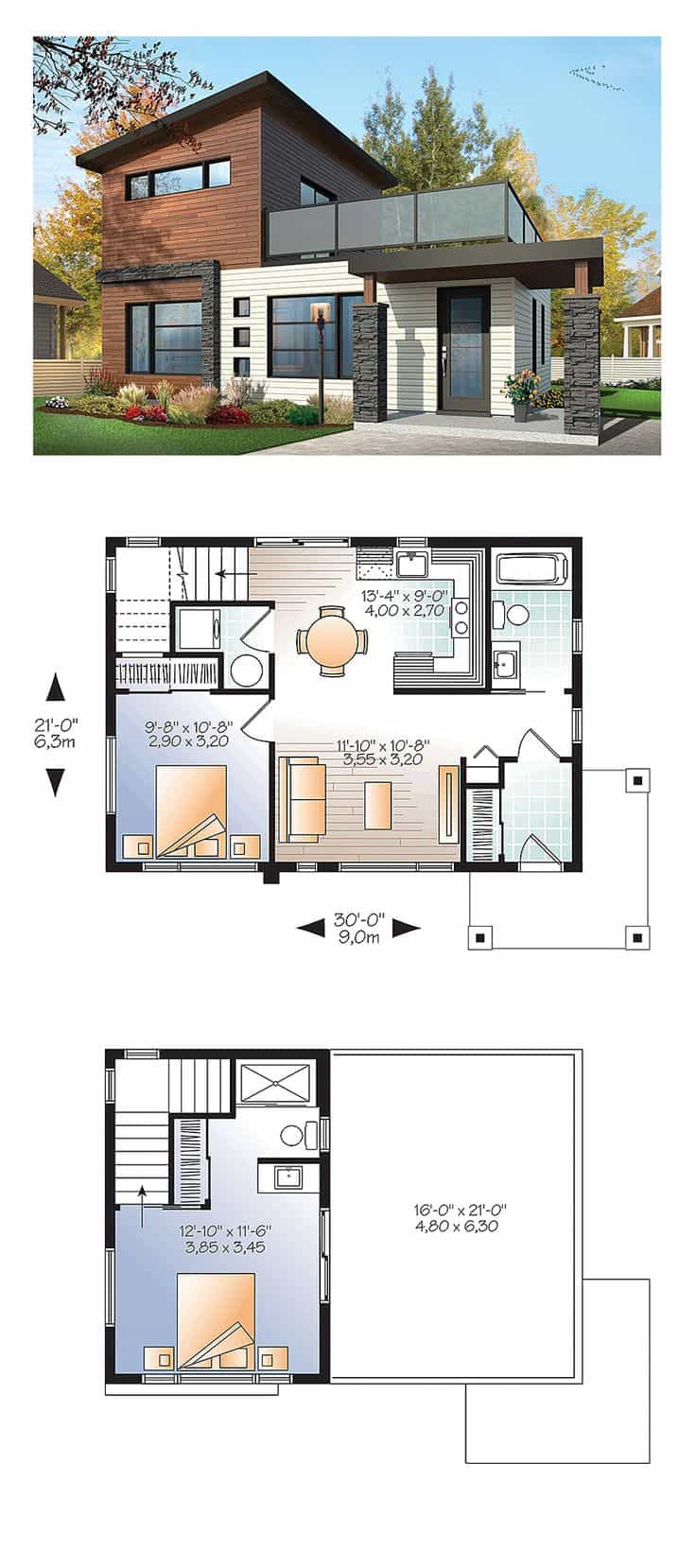 7 Modern House Plans Samples  Modern Home