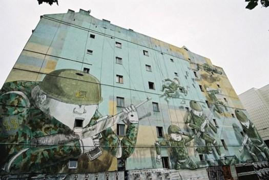 Blu street art activist art