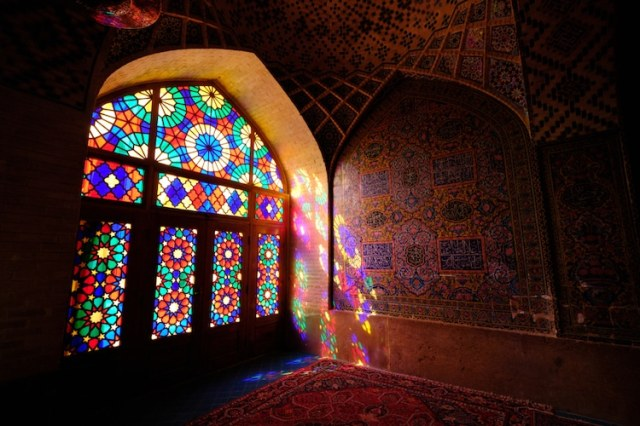 Stained Glass at Nasir al-Mulk Mosque in Shiraz