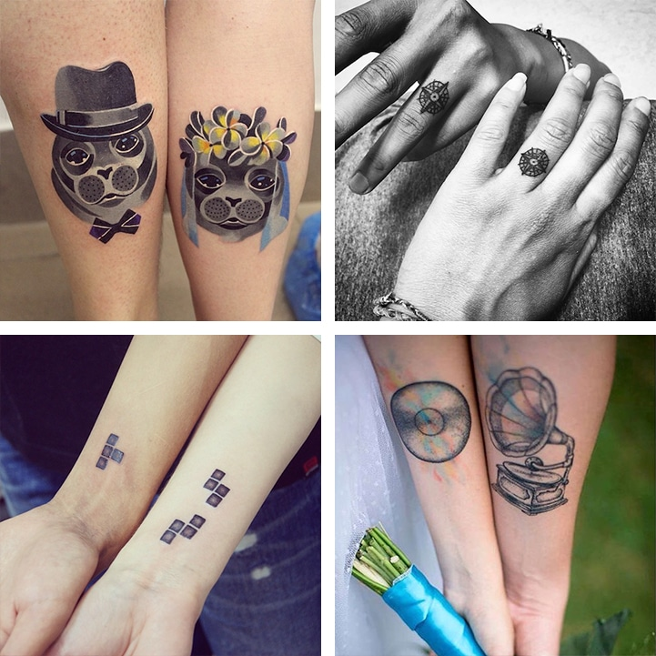 15 Matching Wedding Tattoos to Celebrate Marriage