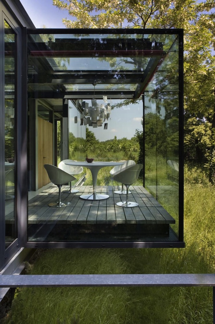 Glass House Surrounded by Nature