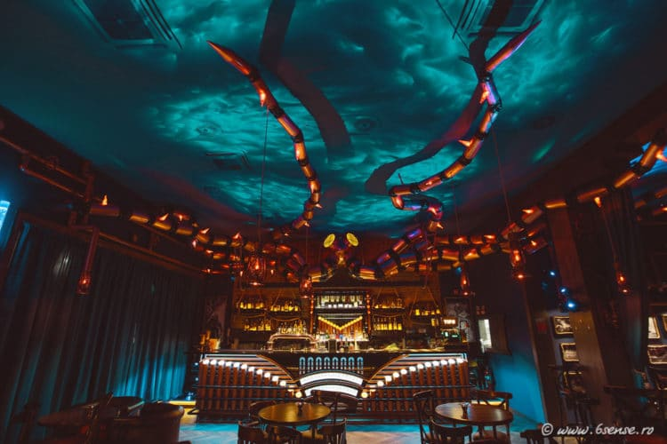 Steampunk Bar Invites Visitors Into an Underwater Abyss