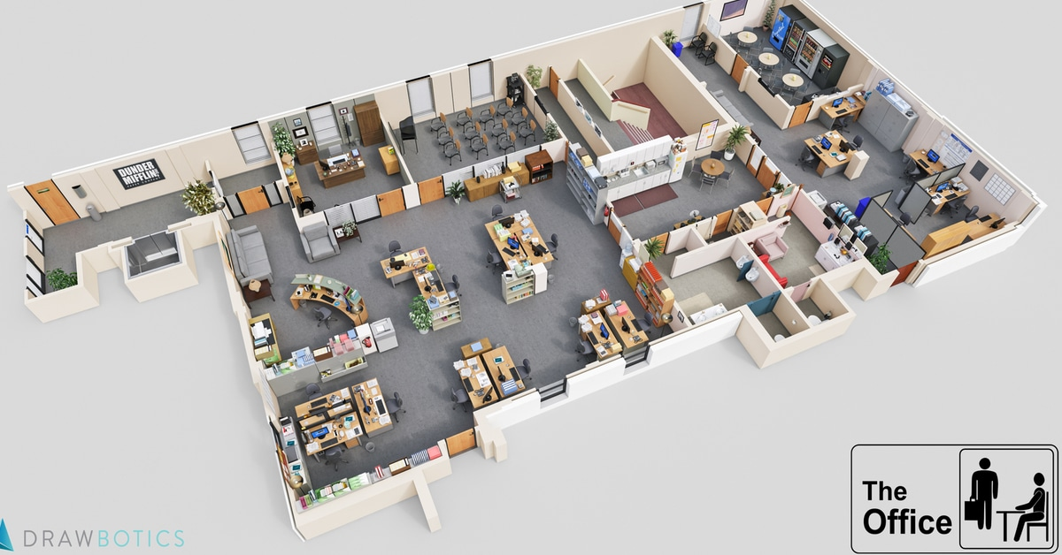 Cool 3D TV Show Floor Plans Of Your Favorite TV Offices
