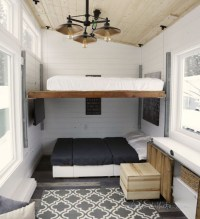 Elevating Bed Turns Tiny House into Modern and Spacious Home