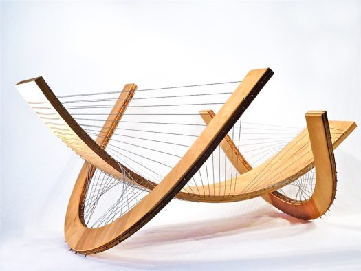 Tensegrity lounge chair designed by robby cuthbert