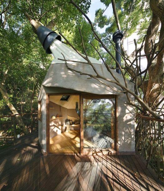 treehouses for grown-ups takashi kobayashi kusukusu treehouse