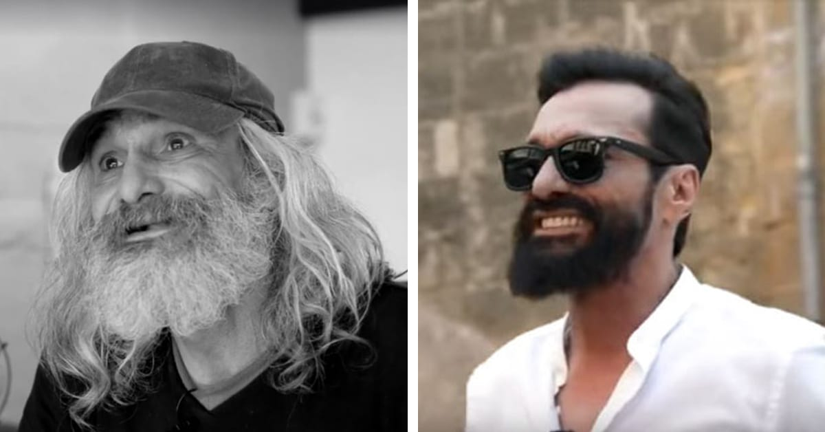 Homeless Man In Spain Transformed Into Hipster After Makeover