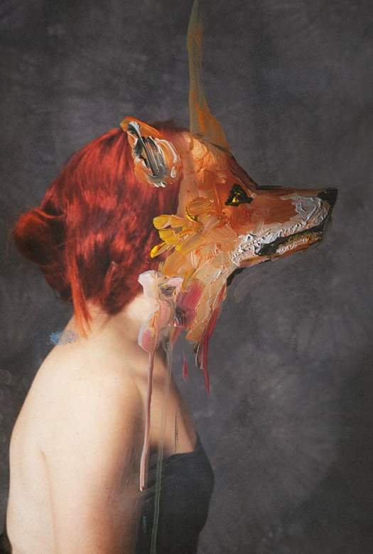 paintings merged with photographs art photography mixed media