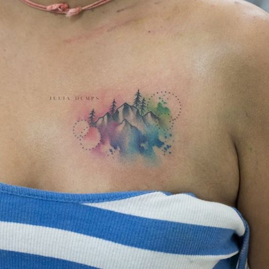Watercolor Tattoo by Julia Dumps