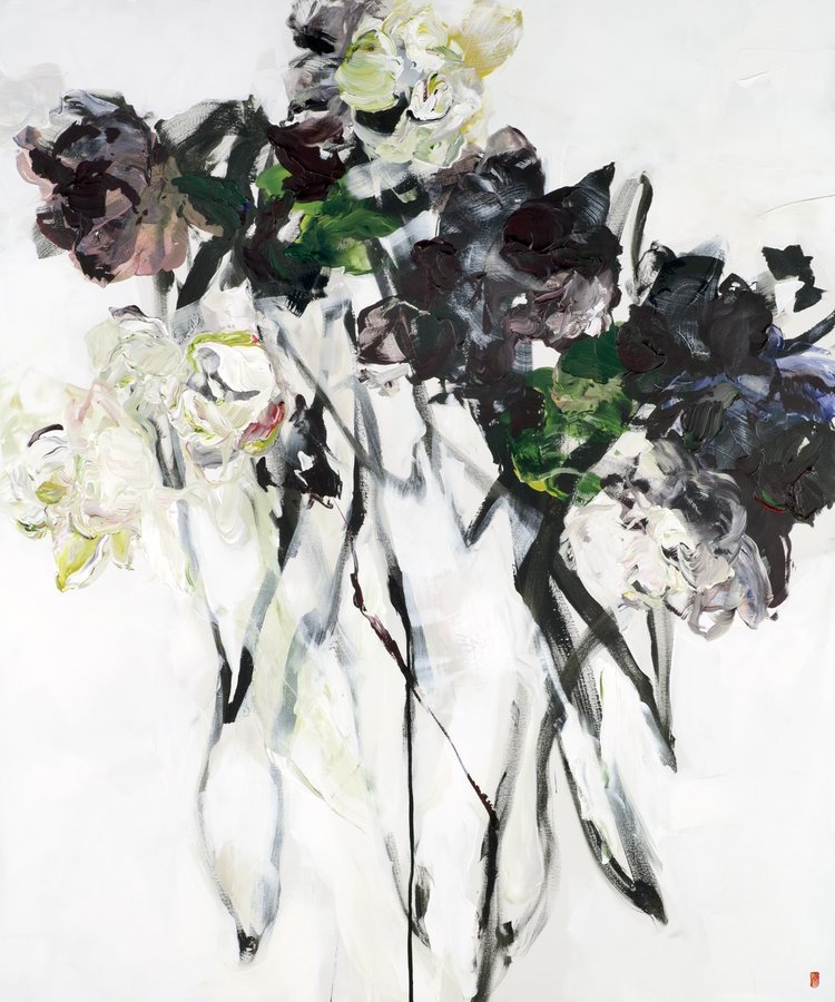 abstract floral paintings by