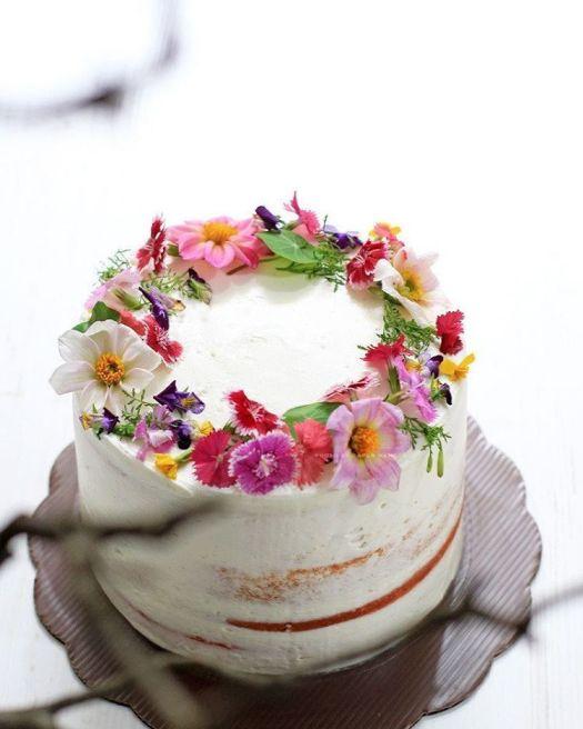 Edible Flower Cakes