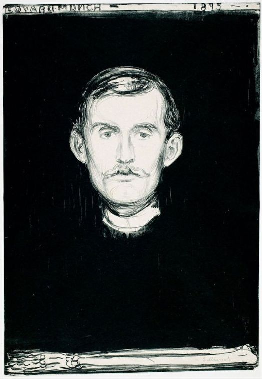 Famous Self-Portraits Art History Edvard Munch Famous Self Portraits