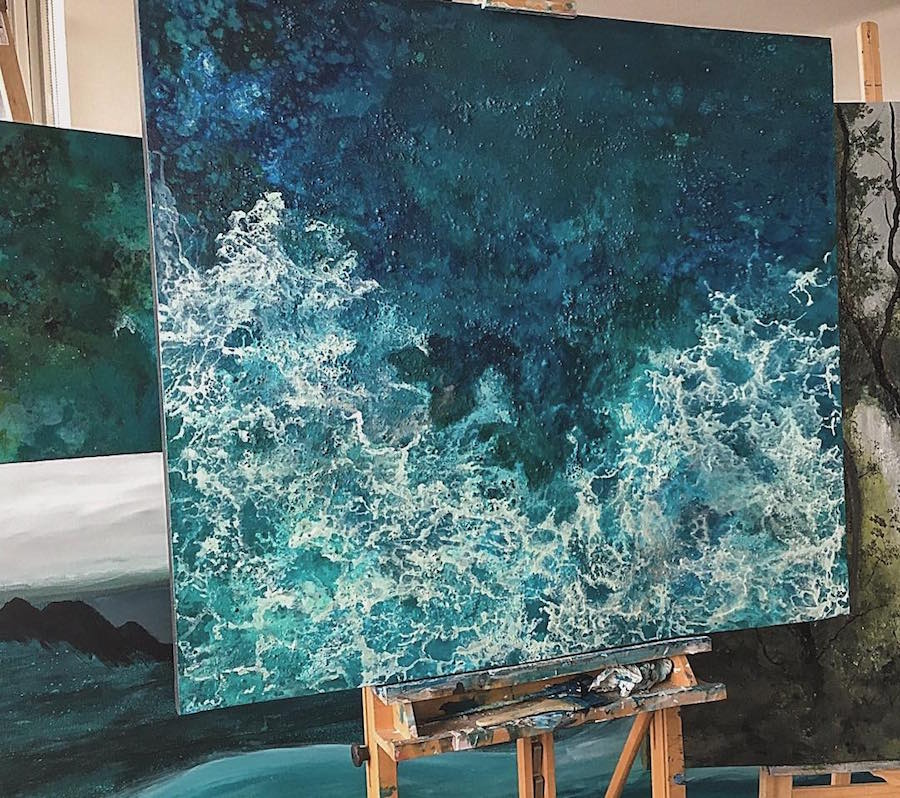 paintings of waves by