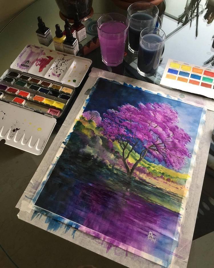 Watercolor Landscapes by Adem Potas Capture the Colors of Nature