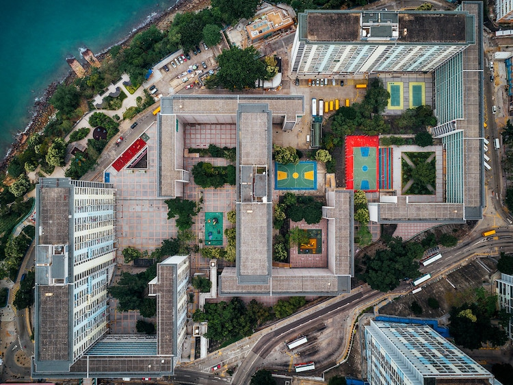 Andy Yeung kowloon walled city drone photos