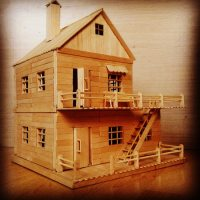Popsicle Stick Model House Plans