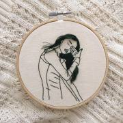 hair embroidery art sheena liam