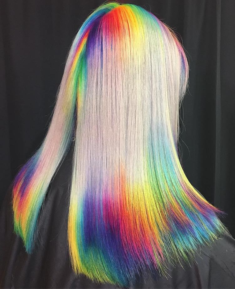 Blonde Haare Mit Lila Strhnen