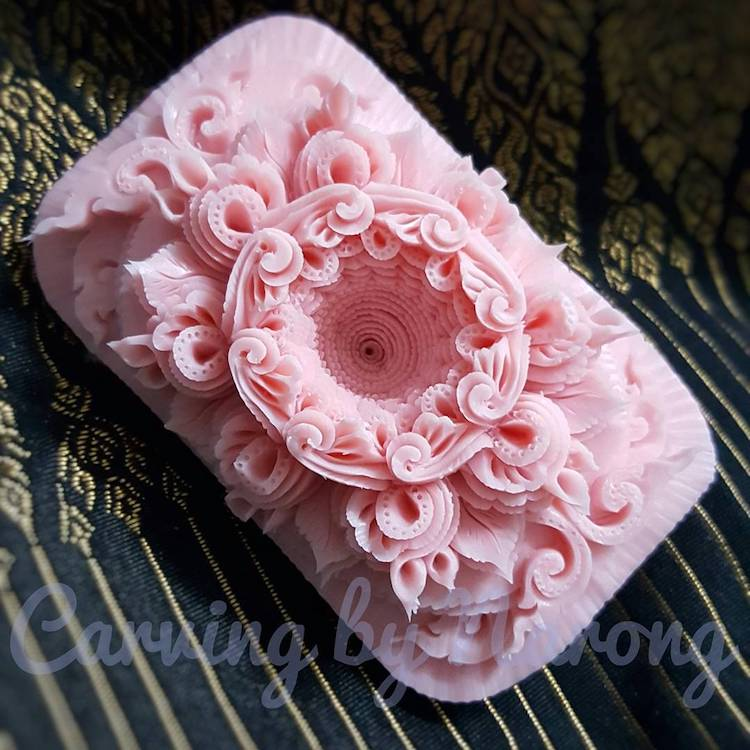 Carved Soap Sculptures by Narong