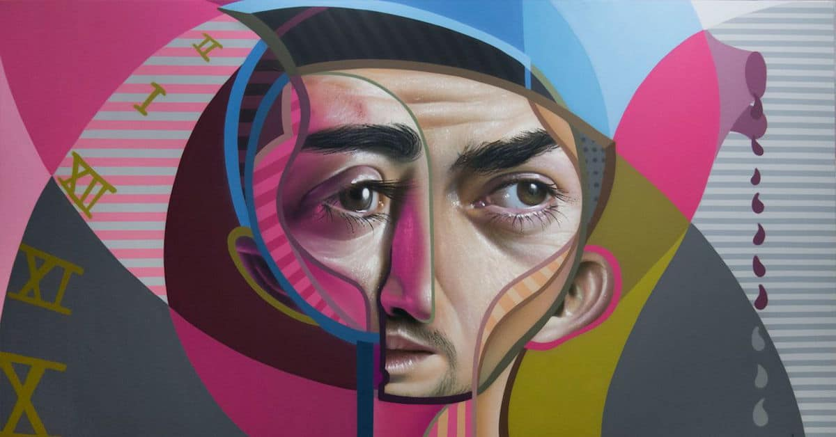 Graffiti Portraits Creatively Blend Cubism with Hyperrealism